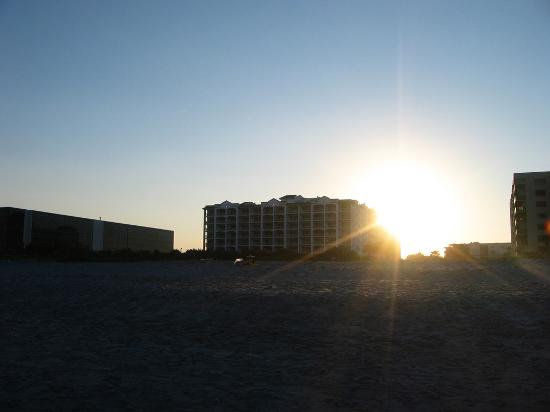 The Resort on Cocoa Beach: hotel from the beach at sunset