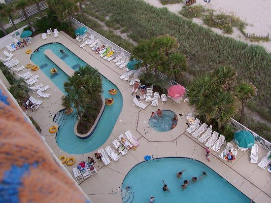 Ocean Drive Beach And Golf Resort Pool Area Taken From 10th Floor Balcony