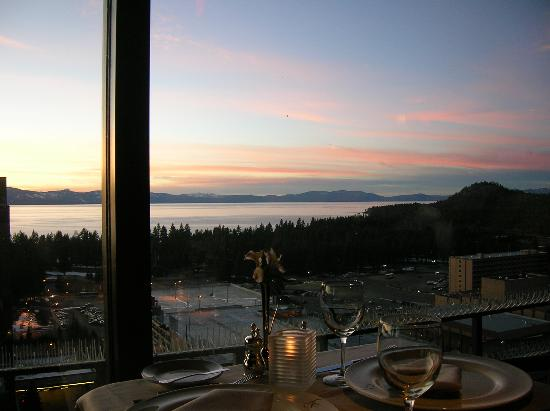 Harveys Lake Tahoe View From Table At Friday S Station Restaurant Harrah