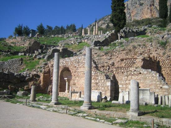 Delfi, Hellas: Delphi Entrance