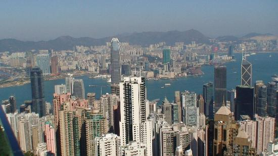 Hongkong, Chiny: View from Victoria Peek