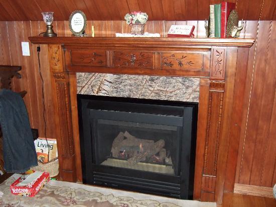 Phipps Inn: Fireplace in the Peacock Room