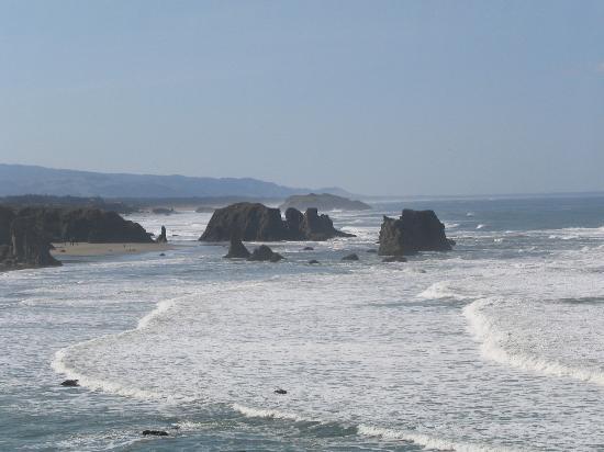 Bandon Inn: Too cold to swim, but pretty to look at the Pacific shores.