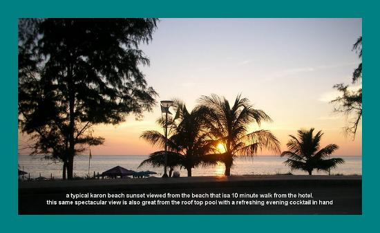 Pacific Club Resort : typical karon beach sunset