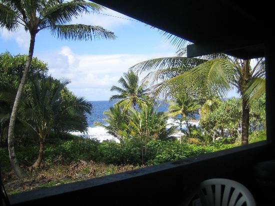 Waianapanapa State Park Cabins: View from porch