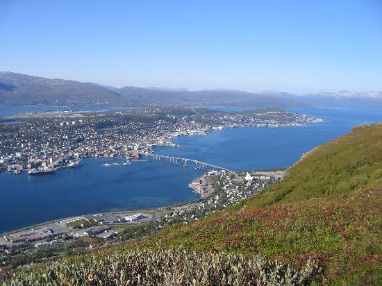 Tromsø, Norveç: View from Storsteinen