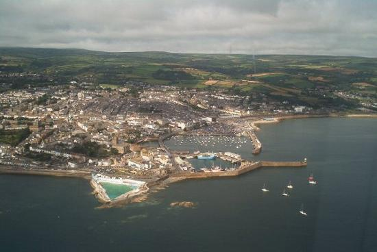 Пензанс, UK: Arial view of Penzance