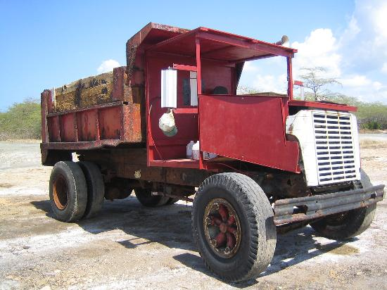 Grand Bahi-a Ocean View Hotel: wooden truck at salt plant (used to minimize corrosion)