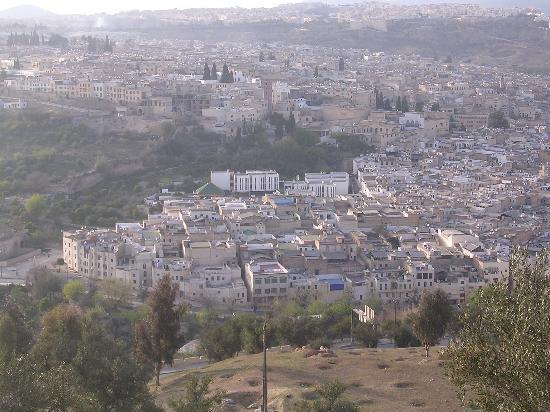 Riad Attarine: Le riad vu de Borjd Sud
