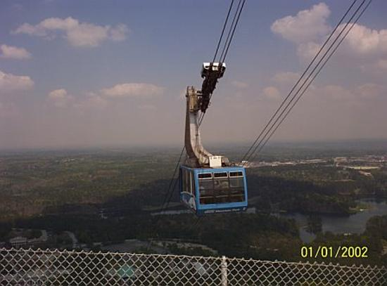 Stone Mountain Park: skylift to the top of stone mountain