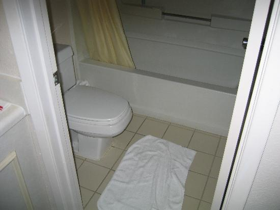 Days Inn Galleria-Birmingham: Bathroom was small but clean except for one floor corner