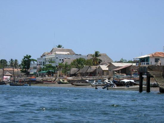 Lamu Palace Hotel : View back towards the hotel