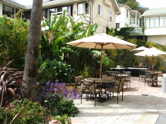 The Avalon Hotel: Another shot of the patio