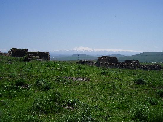 Kars Province, Turkey: Ani, looking across the border with Armenia