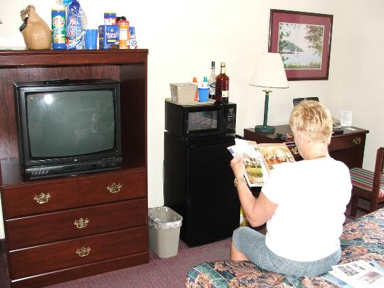BEST WESTERN Executive Inn: Desk, Refrigerator, Microwave and TV