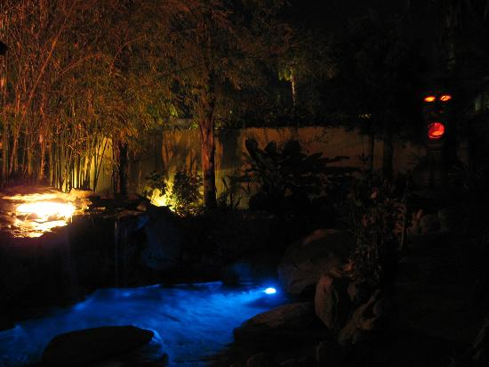 Vista Grande Resort - A Gay Mens Resort: Waterfall & Penis God at Night
