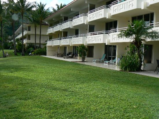 Hibiscus Apartments : The patio and lawn