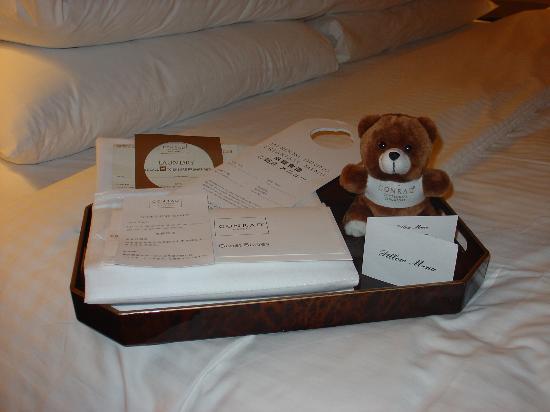 Conrad Centennial Singapore: A cute take home teddy bear