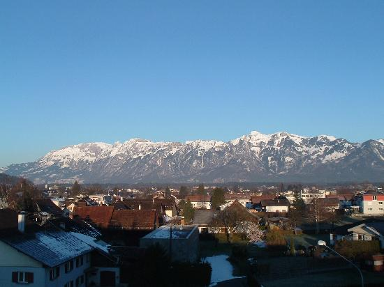 Feldkirch, Austria: View from bedroom on 4th floor