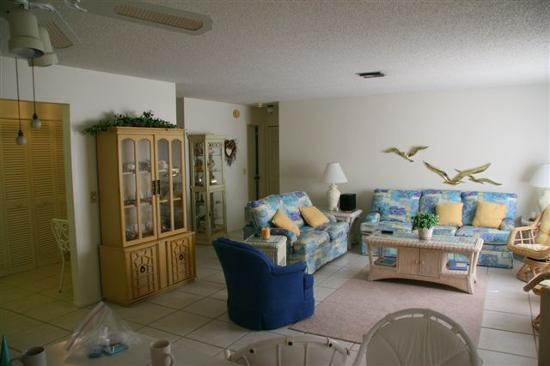 Blind Pass Condominiums: Living area of our condo unit