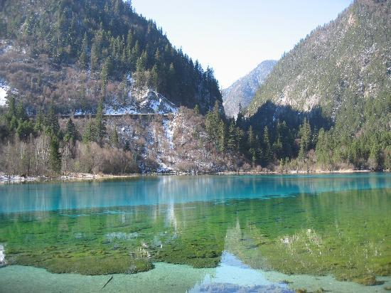 Jiuzhaigou County, Chine : Five Flower Lake
