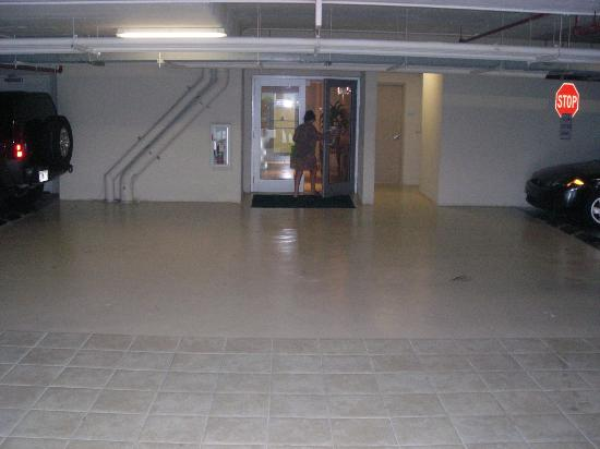 Only access to beach is through the basement parking for Basement access from garage