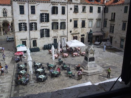 The Pucic Palace: town square from hotel window