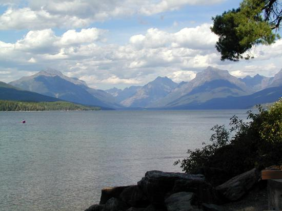 West Glacier, MT: Lake McDonald from the cabin