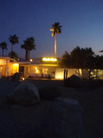 Miracle Manor at night