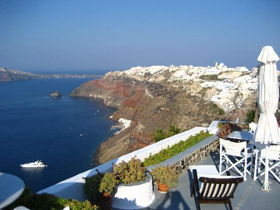 Ikies - Traditional Houses: The view towards Oia. No description needed.
