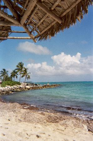 Nassau, Isla Nueva Providencia: View from beach chair