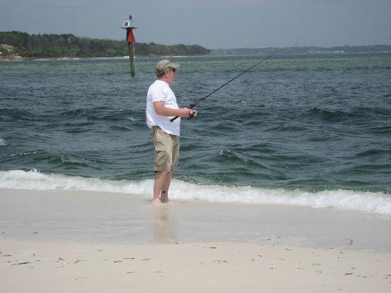 On the rock jetties facing shell island picture of st for Surf fishing panama city beach