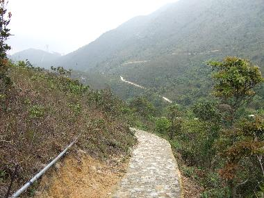 Along the first stage from Ngong Ping