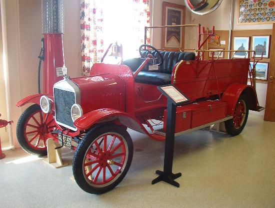 Firefighters' Museum of Nova Scotia: Some of the old trucks on show