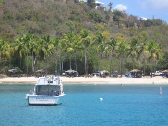 Virgin Islands Campground: the beach where we swam