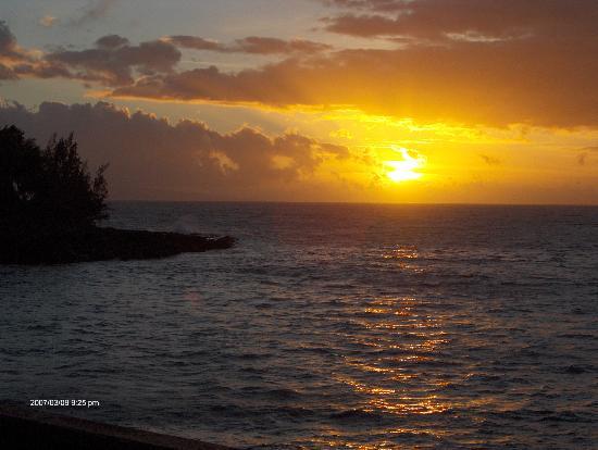 Kahana Sunset: View from deck