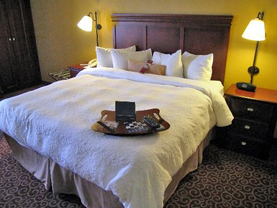 Hampton Inn Brookfield: Room 439 very comfortable king bed