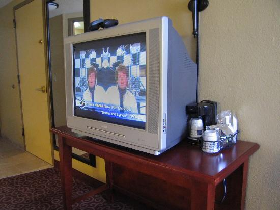 Hampton Inn Brookfield: Room 439 Flat Screen TV