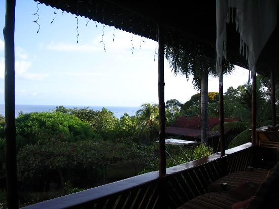 Marenco Beach & Rainforest Lodge: view from the open air dining room
