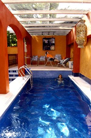 Arcos Del Atascadero: The solar heated pool.