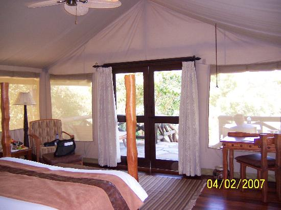 ‪‪Sarova Mara Game Camp‬: Inside of Tent #65 at Sarova Mara Game Camp‬
