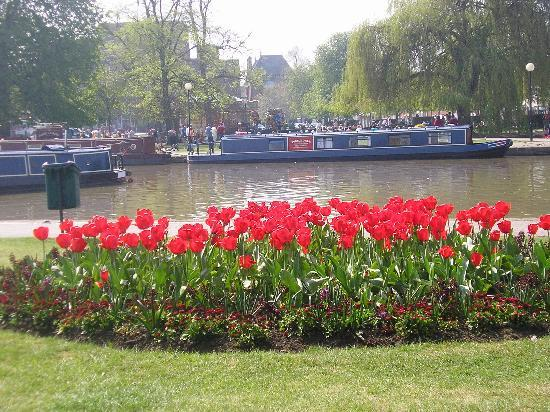 Stratford-upon-Avon, UK : Gardens near the theatre (April)