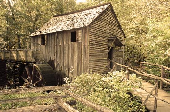 ‪‪Great Smoky Mountains National Park‬, ‪Tennessee‬: The mill in Cades Cove‬
