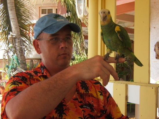 La Quinta Beach Resort : Me with the one of the bartenders friendly birds.......