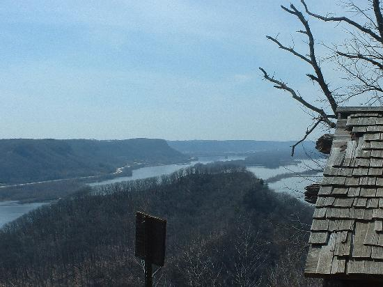 Trempealeau, WI: Perrot Mountain from top of Brady's Hill