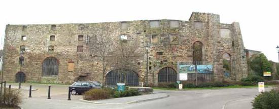 The derelict Harvey's Foundry in Hayle