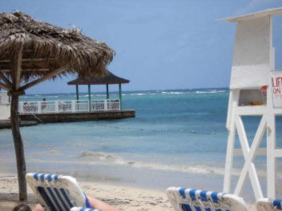 Beaches Ocho Rios Resort & Golf Club: View from my lounge chair on the beach