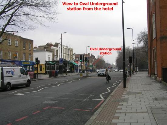 Belgrave Hotel London : View towards Oval Underground