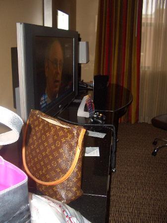 LCD TV in room