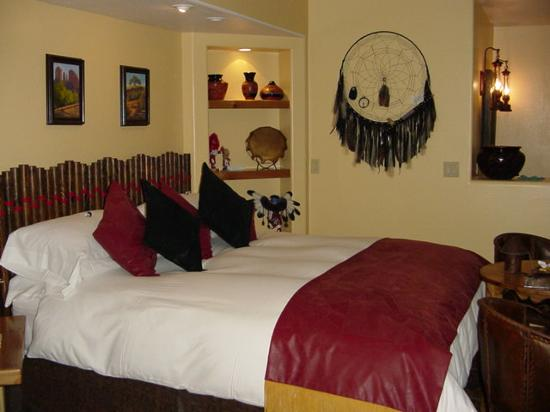 Boots and Saddles: A dreamcatcher over the bed to ensure only good dreams